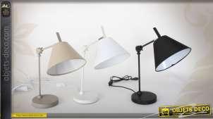 Série de 3 lampes de bureau coloris variés