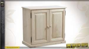 Buffet 2 portes en bois brut