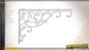 Equerre murale pour plante patine blanche