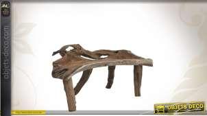 Banc en bois recyclé forme brute