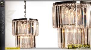 Suspension à prismes en métal et verre