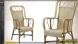 Fauteuil Rotin Et Rocking Chair
