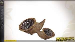 Série de 2 cornes d'abondance en poelet