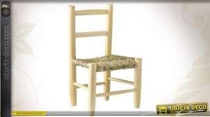 Chaise en hêtre naturel blanchi pour enfant