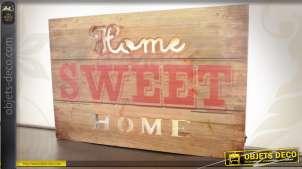 Panneau rétro en bois Home Sweet Home avec éclairage LED