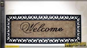 Paillasson Welcome 120 cm en fibres de coco inspiration fer forgé