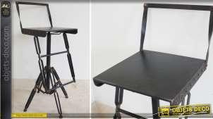 Tabouret chaise de bar en métal de style industriel et vintage