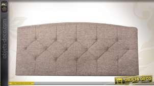 Tête de lit en 160 habillage tissu marron clair capitonné