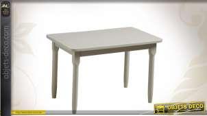 Table en hêtre pour enfant laquée gris clair