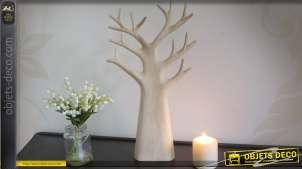 Sculpture d'arbre réalisée en bois massif 45 cm