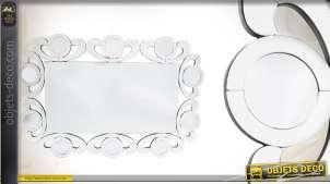 Miroir mural de style Art Déco multifacettes