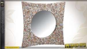 Miroir décoratif en papier recyclé coloris multiples