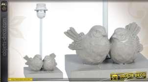 Pied de lampe orné d'oiseaux décoratifs