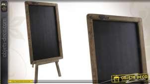 Tableau noir à poser en bois finition ancienne