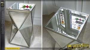 Sellette design en miroir style Art Déco effet vieilli 62 cm