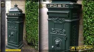 Boîte aux lettres londonienne en aluminium verte