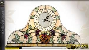 Horloge de table en vitrail Tiffany