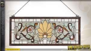 Panneau mural décoratif en vitrail Tiffany
