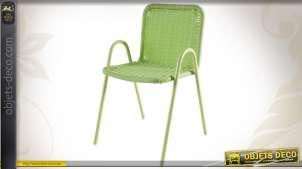 Chaise contemporaine coloris vert pour enfant