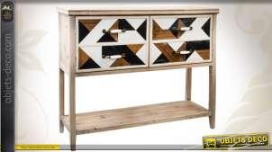 Console en bois de style Art Déco à 2 portes