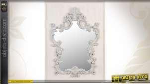 Miroir mural ornementé de style baroque