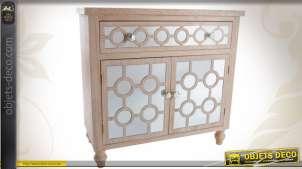 Buffet en bois et en verre avec portes et tiroir