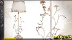 Grande lampe de table de style romantique avec ornementation florale