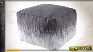 Pouf en coton de forme carrée