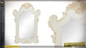 Miroir l'Impératrice en bois de 107cm blanc et doré