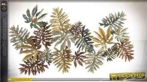 Décoration murale en métal couleurs d'automne de 147 cm