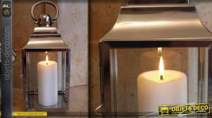 Lanterne décorative en acier inoxydable 43 cm