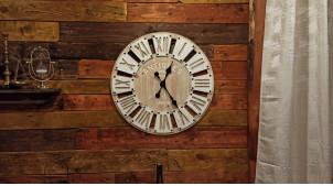 Horloge murale en bois Ø60 - Antiquités londoniennes 1870