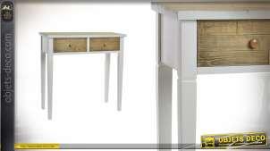 Console en bois deux teintes Collection Natur'L - 82 cm de hauteur