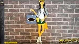 Décoration murale thème jeune fille, mode et shopping 80 cm