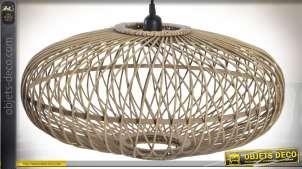 Suspension scandinave ovale en bambou naturel Ø 51 cm