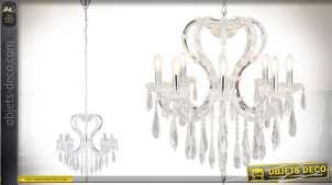 Grand lustre à pampilles de style romantique et design Ø 70 cm