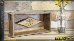 Moule à brique en bois, modèle simple 30 cm