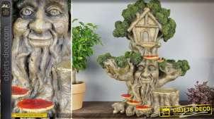 Ornementation de jardin en forme d'abre de conte de fées 56 cm