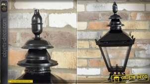 Cage de lanterne pour réverbère ou potence murale de style rétro laqué noir 60 cm