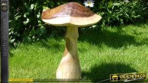 Sculpture en bois d'un champignon (51cm)