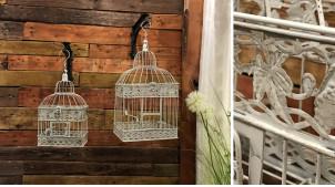 Cages à oiseaux déco beige antique