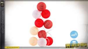 Guirlande LED avec boules de coton décorative 150 cm (Ø 6 cm)