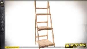 Etagère en escalier en bois clair à trois niveaux 112 cm