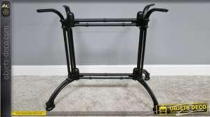 Pied de table en fonte, collection Bistrot, finition noir, modèle Joanie
