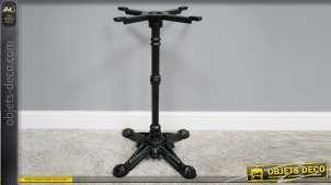 Pied de table en fonte, collection Bistrot, finition noir, modèle Tilda