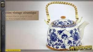 Théière vintage céramique fine