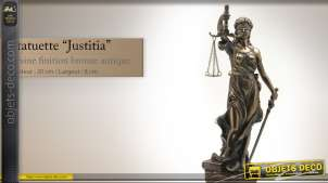 Statuette La Justice finition bronze antique