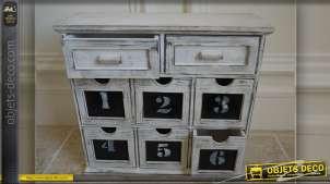 Petit meuble de rangement à huit tiroirs