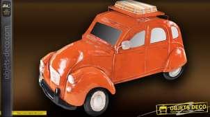 Déco métal 2CV Citroën orange