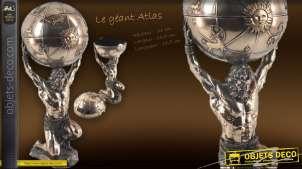 Statuette le géant Atlas finition bronze